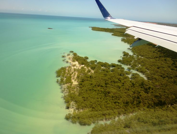 Flying to Broome, Australia