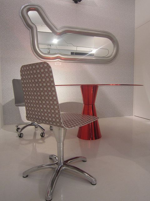 #luwan chair and #arbat table, design by Marco Piva and #monza mirror by @Valentina Fontana for #altreforme at Salone del Mobile 2011 #interior #home #decor #homedecor #furniture #aluminium