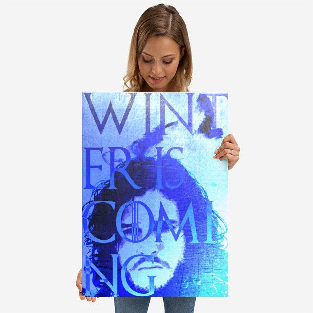 26% OFF all products this weekend  Use code: SPRING26 . Winter is Coming Poster by Scar Design | Displate. #sale #sales #discount #posters #gifts #giftideas #homegifts #39 #wallart #livingroom #decoration #home #homedecor #cool #awesome #giftsforhim #giftsforher #tvshow #winteriscoming #fandom #jonsnowposter #got #blue #wolf #stark #throne #fandom #geek #nerd