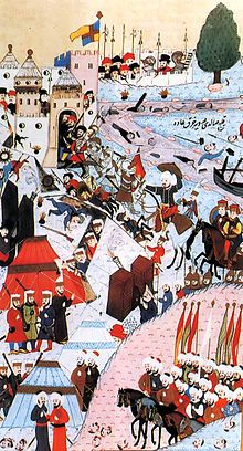 In 636 CE, Muslim forces led by the Arab Rashidun Caliphs defeated the Eastern Roman/Byzantines at the Battle of Yarmouk, conquering Palestine.[5] Jerusalem fell to Caliph Omar's forces in February 638.[6] The Umayyad Dynasty was inaugurated by Muawiyah I, sole caliph from 661,[7] who made his capital in Damascus.[8] In 750 the Umayyads were overthrown by the Abbasid Dynasty of Baghdad[5] and from 878 Palestine was ruled by semi-autonomous governors in Egypt