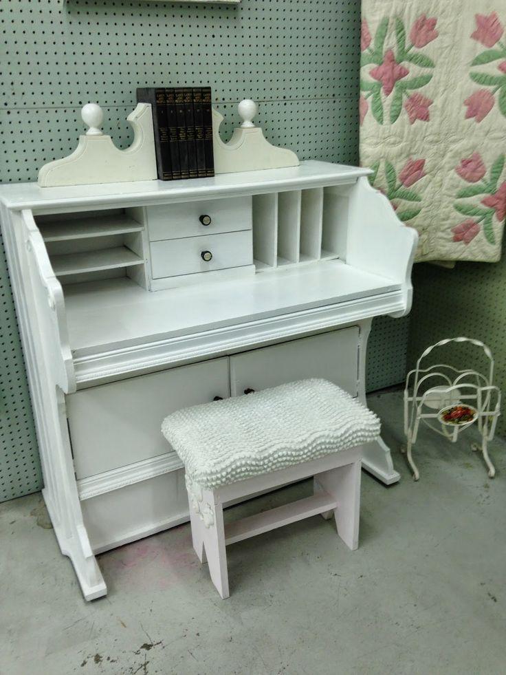 Pollyanna Reinvents: Trash to Treasure - Pump Organ to Desk
