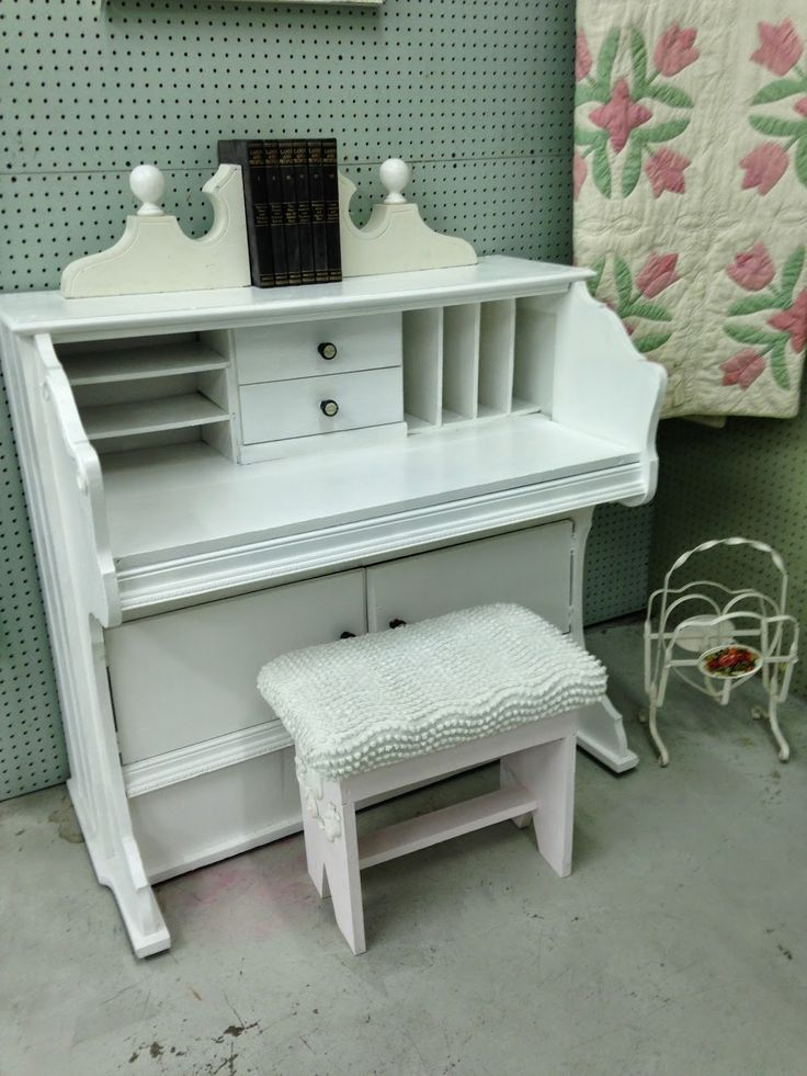 Pollyanna Reinvents: Trash to Treasure - Pump Organ to Desk