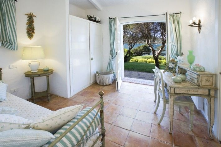 Villa Silvestro   located near Porto Rotondo, hidden in wonderful Mediterranean gardens with direct sea access, private sandy beach - and in case you will be arriving with your own yacht (up to 80 feet) you will be able to moor next to the villa and have your private energy and water supply.