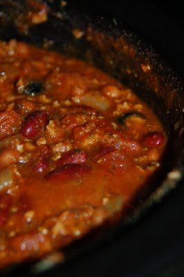 TVP Vegetarian Chili! Perfect for the crockpot.