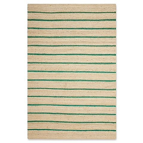 Hand-woven of beautiful and enduring 100% jute, the Kathy Ireland Paradise Garden Tropical Rug offers a stylish stripe design that adds freshness to your home. Supremely soft, and irresistibly textured, this rug is stylishly designed with trendy colors.