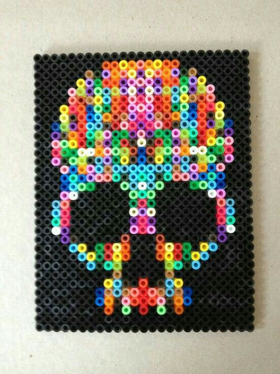 "2015 theme ""Bone Dance"" - perler/hama bead sugar skulls workshop"