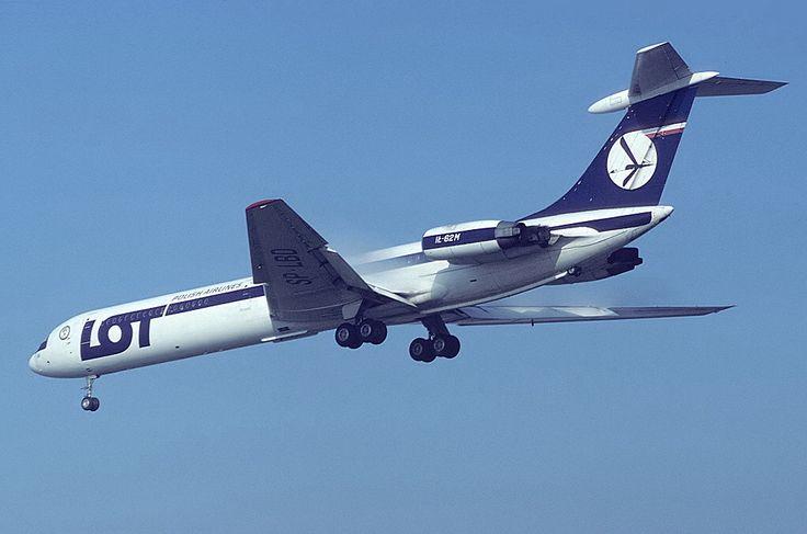 Image issue du site Web http://upload.wikimedia.org/wikipedia/commons/7/72/Ilyushin_Il-62M,_LOT_-_Polish_Airlines_-_Polskie_Linie_Lotnicze_AN1311630.jpg