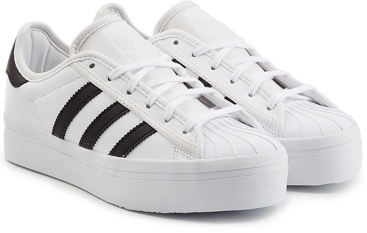 Adidas Originals Leather Superstar Platform Sneakers