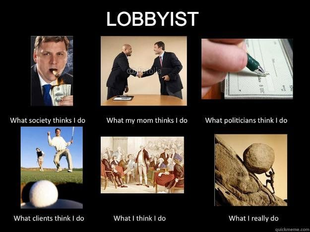 From our experience in class today I found this funny as  these pictures show the change in my perspective from what I thought lobbying was to what I think now. I especially related to the last one because while lobbying my coalition had many things on our agenda yet we argued about one point without getting very far.