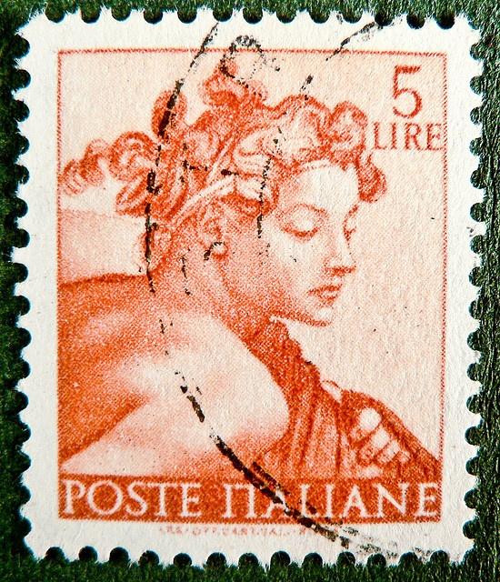 Stamp - Italy 5 lire