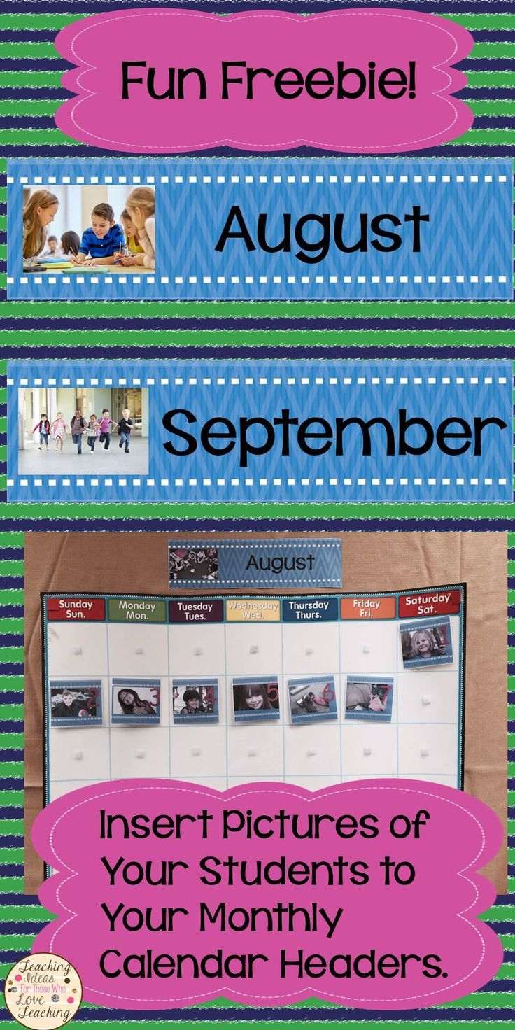Monthly Calendar Headings : Best images about combo classroom on pinterest back