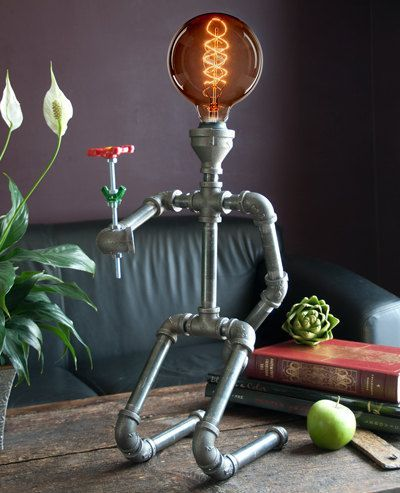 Pipe Lamps by CreativePipeLamps on Etsy                                                                                                                                                                                 Más