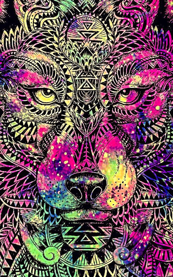 Épinglé par Best Wallpaper sur wallpaper   Fond d'écran loup, Mandala dessin et Dessin attrape reve