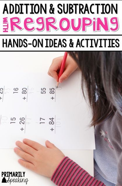 Lots of great ideas and activities for practicing two-digit and three-digit addition and subtraction with regrouping.  Post includes a freebie!
