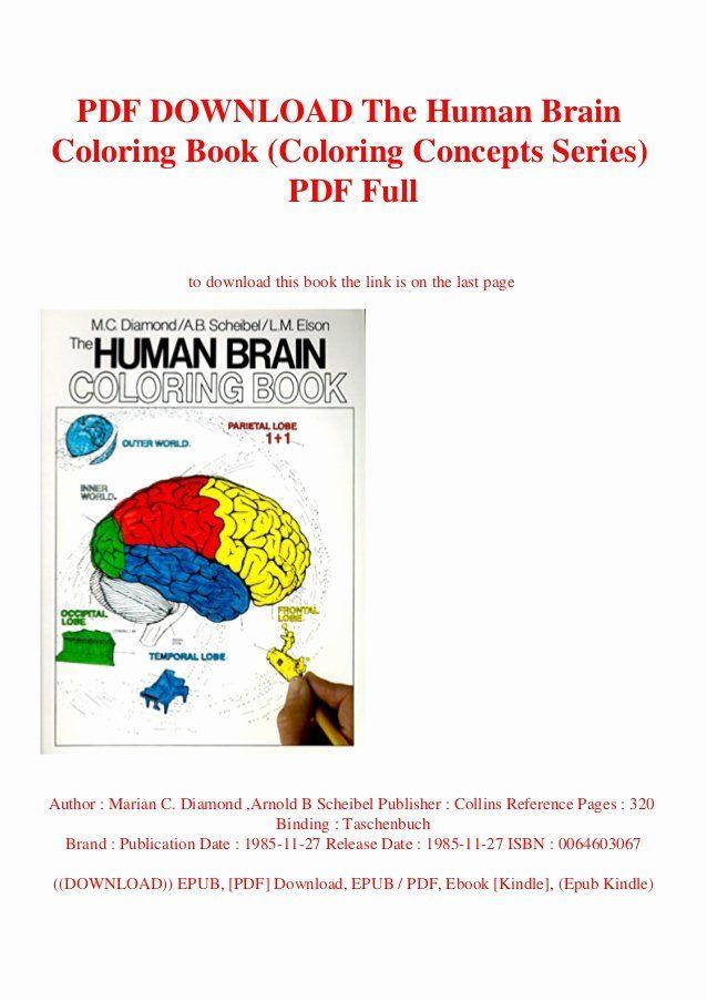 The Human Brain Coloring Book Fresh Pdf Download The Human Brain Coloring Book Coloring Coloring Books Stress Coloring Book Star Wars Coloring Book