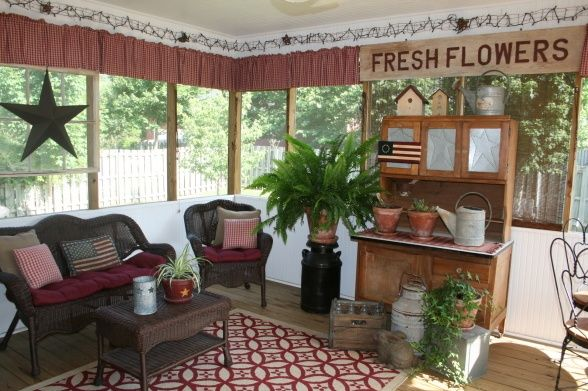 Screen porch decorating screened porch love Screened in porch decor