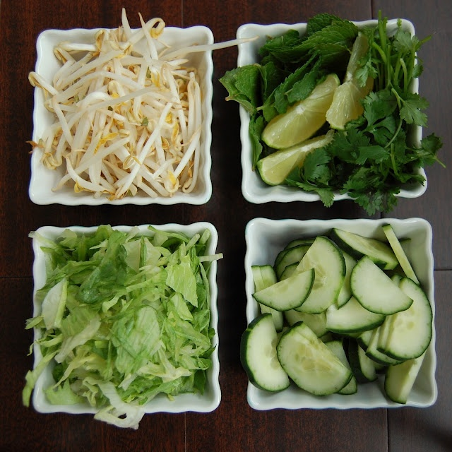 Vegetarian Vietnamese Noodle Salad Bar | Food from My Blog | Pinterest ...