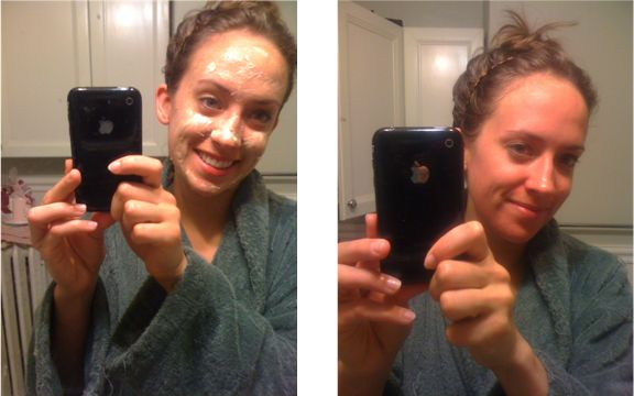 Baking soda and orange juice mask. This combo gets rid of blackheads and is great for treating hormonal breakouts.. Here are her instructions: 1.	Mix 1 tbsp real orange juice with 1 tbsp baking soda (I like to use a shot glass – ha!) 2.	Spread a thin layer on face. (There should be enough for two applications, or one if you put it on your neck and décolletage, too, which I do.) 3.	Leave on for 20 minutes 4.	Dampen finger tips and scrub mask in circular motions for extra exfoliation 5.	Rinse