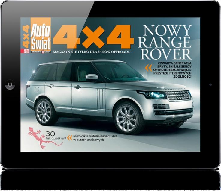 AUTO ŚWIAT 4x4 to multimedialny magazyn na tablet, skierowany zarówno do doświadczonych fanów offroadu, jak również do osób, które dopiero zaczynają swoją przygodę z samochodami terenowymi.  Wydawca: Ringer Axel Springer Polska. Wersja iOS.