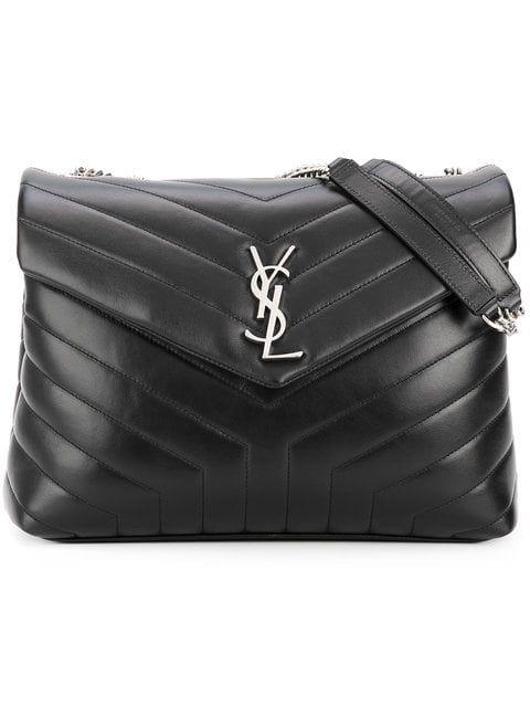 b9ae9f62 Saint Laurent Black Loulou Leather Shoulder Bag in 2019   WISH LIST ...