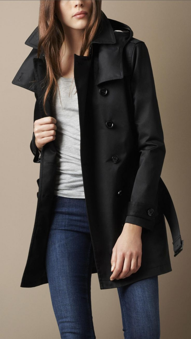 17 best images about Spectacular Black Trench Coat Women on Pinterest