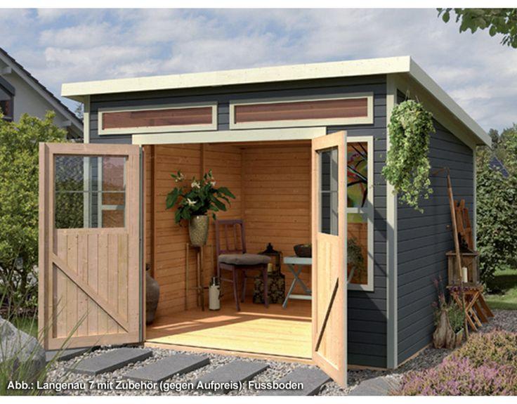 ber ideen zu gartenhaus mit pultdach auf pinterest. Black Bedroom Furniture Sets. Home Design Ideas