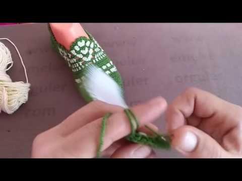Tığ İşi Dantel Patik Modeli - YouTube