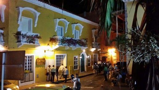 Calles de Cartagena de Noche
