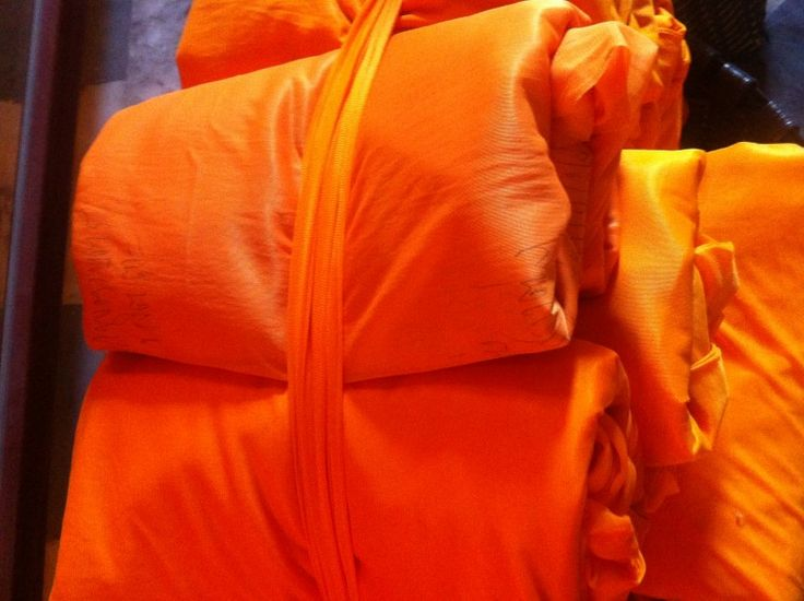Robes for monks at roadside temple in Northern Thailand