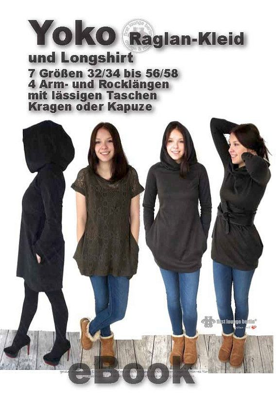 Yoko eBook dress in 7 double sizes from Gr. XS-XXL with