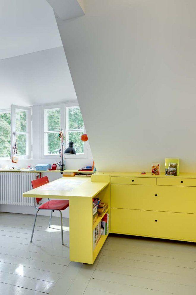 yellow work desk