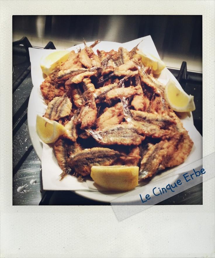 Le acciughe di Monterosso fritte