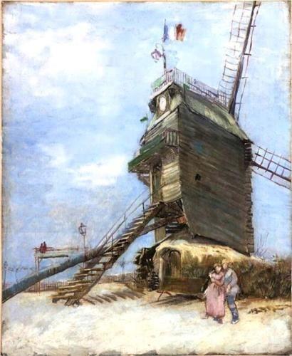 """Vincent van Gogh, """"Le Moulin de la Galette 4,"""" 1886.Gallery: Museo Nacional de Bellas Artes, Buenos Aires, Argentina"""