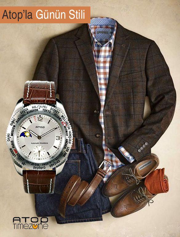 Atop WWS Kahverengi ile Pazartesi Stili... www.AtopTimeZone.com ( %30 Aralık İndirimini unutmayın! ) #Pazartesi