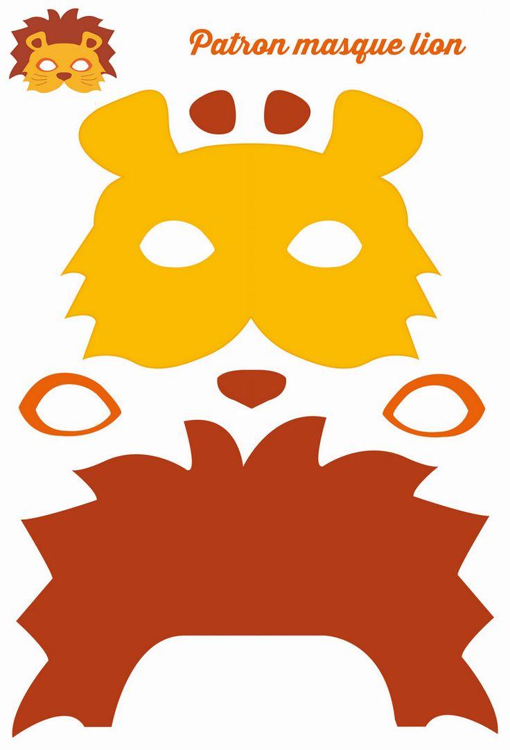 Patron du masque de lion en feutrine