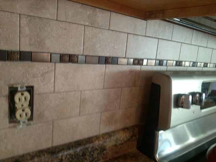 Kitchen Backsplash Just A Little Wider Space With The