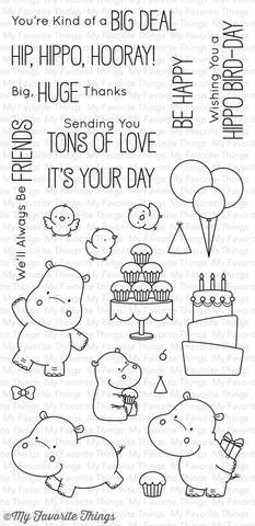 My Favorite Things - HAPPY HIPPOS - Stamp Set $ 17.99