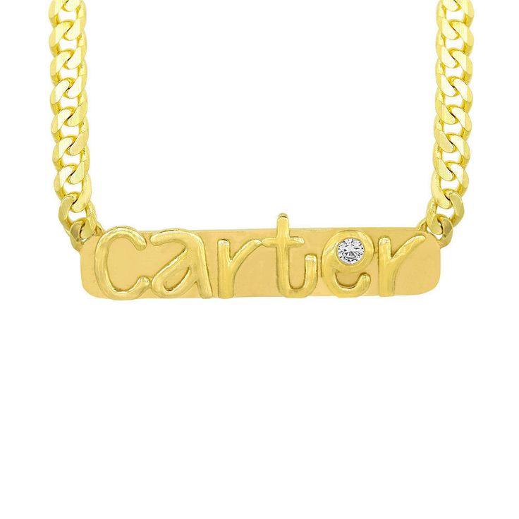 Custom Nameplate Necklace by Kate Alexandra Jewelry on Etsy