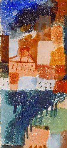 Hauser mit Baumallee, 1915 Art Print by Paul Klee at King & McGaw