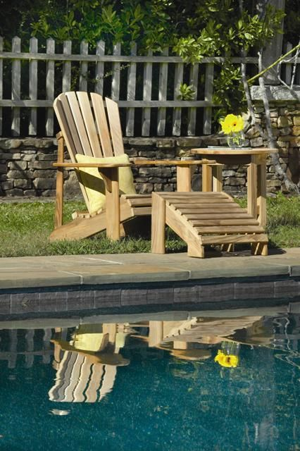 100% American-made teak Adirondack chairs can only be found at Arthur Lauer