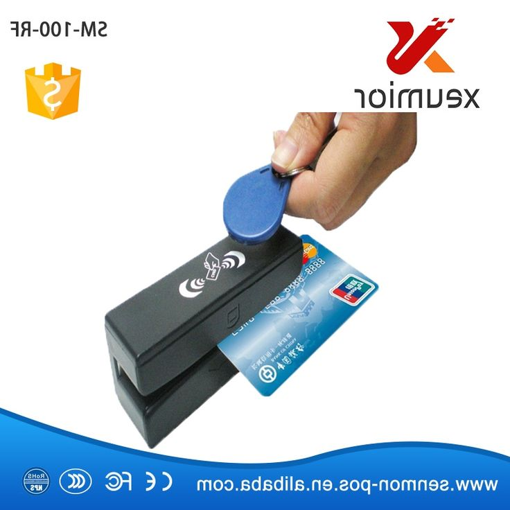 46.55$  Buy here - http://ali090.worldwells.pw/go.php?t=32715522137 - 13.56 MHz RFID Card Reader & Writer and USB Magnetic Stripe Card 3 Tracks Reader SM100-RF,Freeship 46.55$
