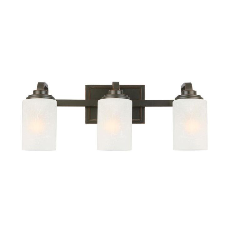 Hampton Bay 3 Light Oil Rubbed Bronze Vanity Light Bathroom Lighting Fixture Bathroom Lighting