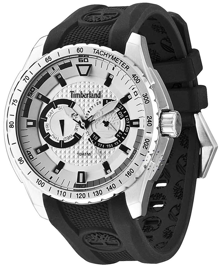 TIMBERLAND Juniper Stainless Steel Black Rubber Strap Μοντέλο: 13854JS-04 Τιμή: 142€ http://www.oroloi.gr/product_info.php?products_id=31651