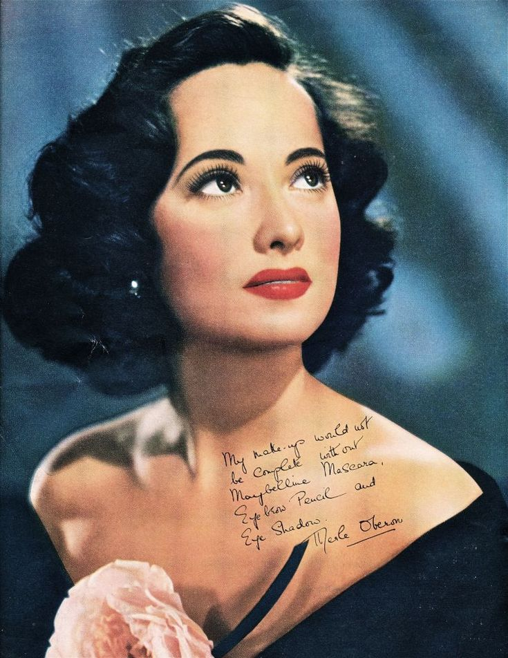 Glamour Magazine 1944 - Merle Oberon for Maybelline via Tina Sutherland....OMG!