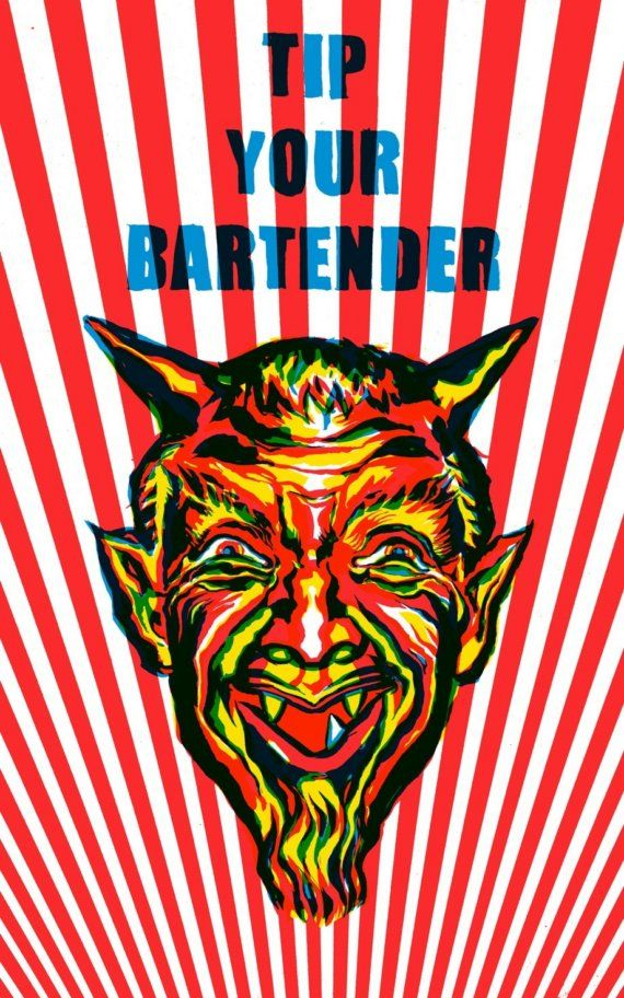 Tip Your Bartender by luckynakazawa on Etsy, $40.00