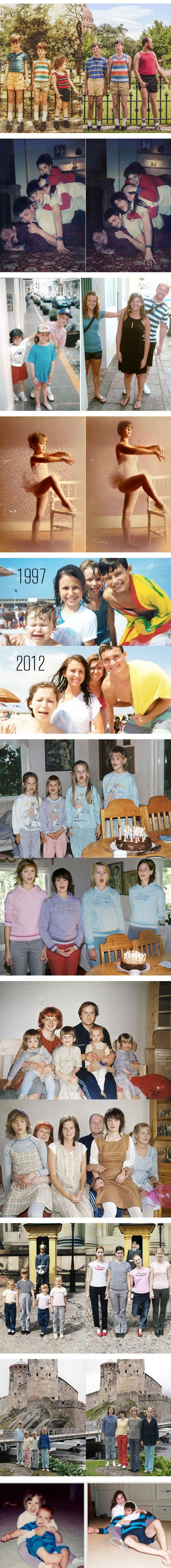 Recreating Childhood Photos,,,,my kids better do this for me someday.