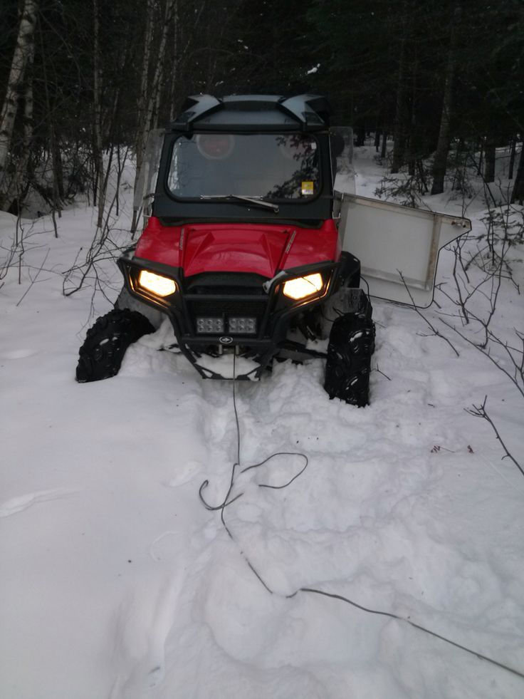 Too much snow for the RZR.