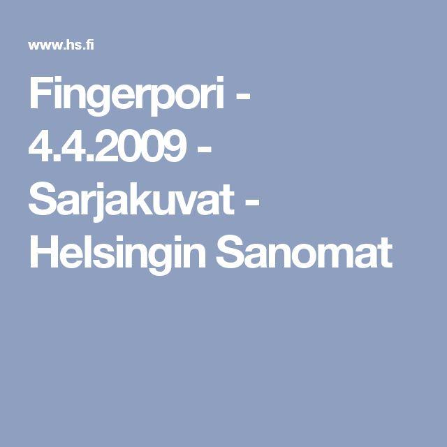 Kirjamessut. Fingerpori - 4.4.2009 - Sarjakuvat - Helsingin Sanomat