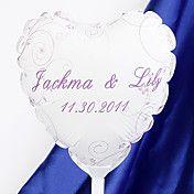 personnalisé mariage ballons en forme de coeu... – EUR € 4.12