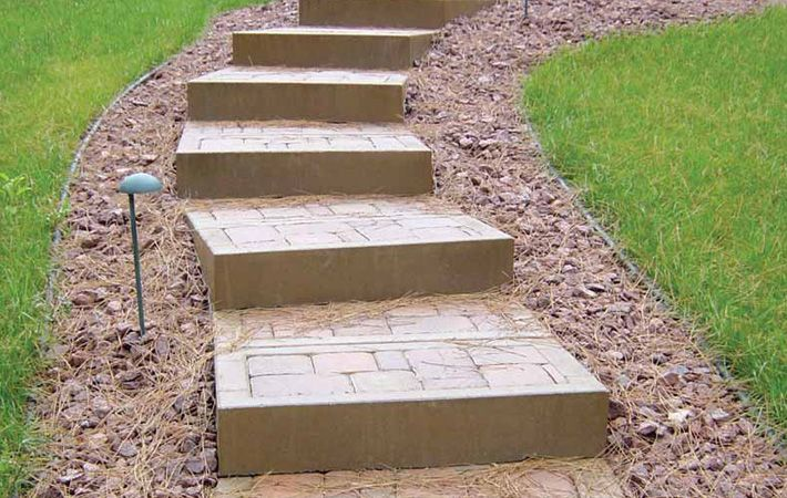 how to build stairs out of pavers